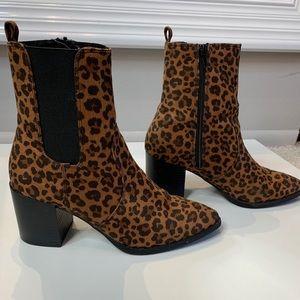 Express Cheetah heeled boots